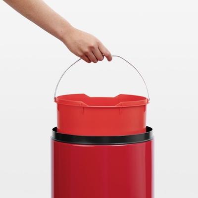Brabantia Çöp Kutusu 30 litre Flipin Kırmızı 106903 - Thumbnail 20BRA106903