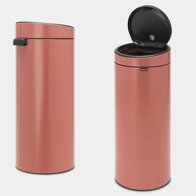 BRABANTIA - Brabantia Çöp Kutusu 30 litre Touch Bın New Terracotta Pembe 304385 (1)