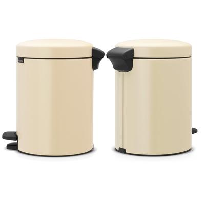 Brabantia Çöp Kutusu 5 litre Newicon Pedallı Almond 112423 - Thumbnail 20BRA112423