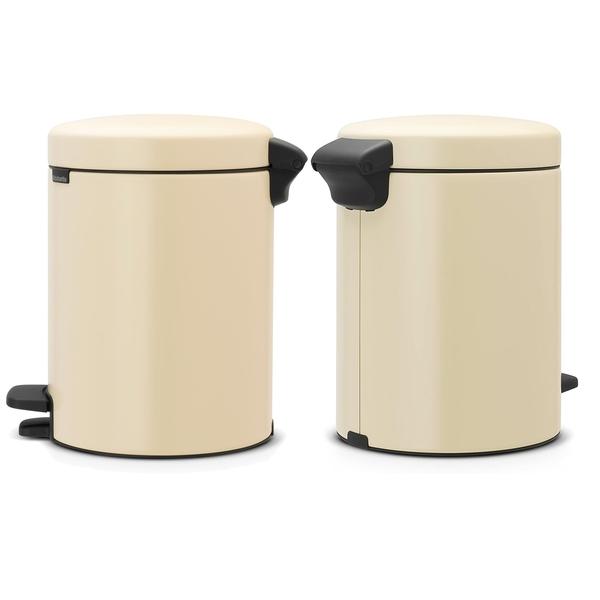 Brabantia Çöp Kutusu 5 litre Newicon Pedallı Almond 112423 - 20BRA112423