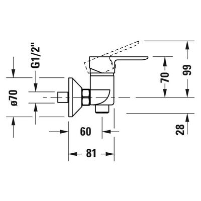 DURAVİT - Duravit A1 Duş Bataryası A14230000010 (1)