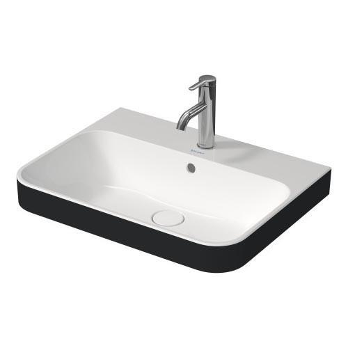 Duravit Lavabo Happy D.2 Plus 60 x 46 cm, Beyaz / Antrasit Mat 606061000 - 20DRV606061000