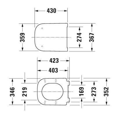 DURAVİT - Duravit Klozet Kapağı Happy D.2 Amortisörlü Mat Antrasit 0064591300 (1)