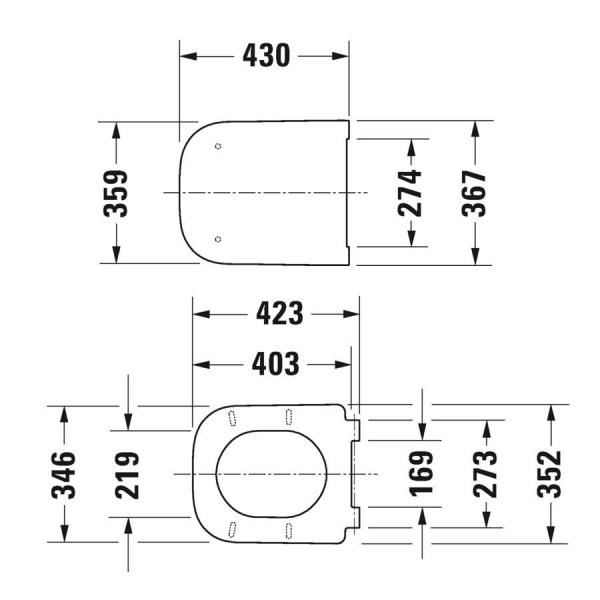 Duravit Klozet Kapağı Happy D.2 Amortisörlü Mat Antrasit 0064591300 - 20DRV0064591300