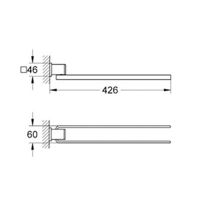 GROHE - Grohe Allure ikili Havluluk - 40342000 (1)