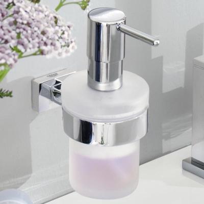 GROHE - Grohe Sıvı Sabunluk İkili Set Essentials Cube Camı ve Tutacağı (1)