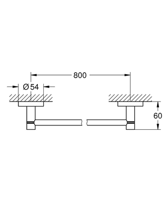 GROHE - Grohe Essentıals Uzun Havluluk 800 mm Krom 40386001 (1)