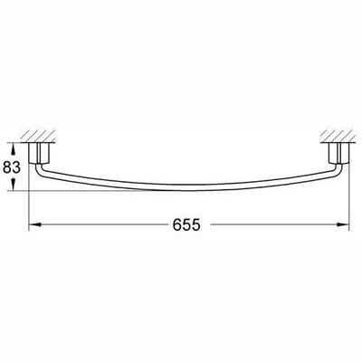 GROHE - Grohe Tenso Uzun Havluluk Krom 600 mm - 40292000 (1)