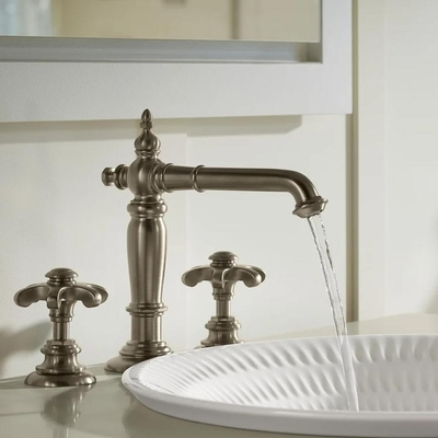 Kohler - Kohler Lavabo Bataryası Artifacts Column Design & Prong Handle Polished Chrome (1)