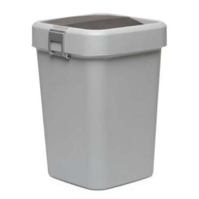 MOTEK - Motek Çöp Kutusu Comfort Gri Kilitli ve Sallanır Kapak 18 litre