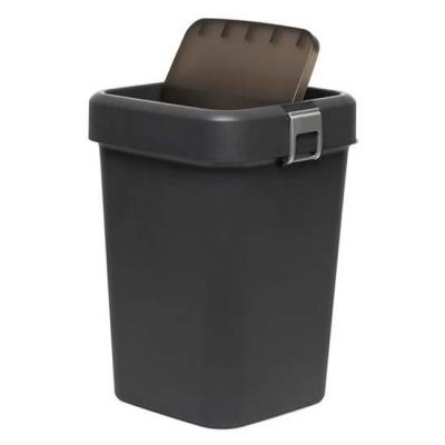 MOTEK - Motek Çöp Kutusu Comfort Kilitli Çöp Kovası Antrasit 18 Litre
