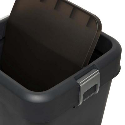 MOTEK - Motek Çöp Kutusu Comfort Kilitli Çöp Kovası Antrasit 18 Litre (1)