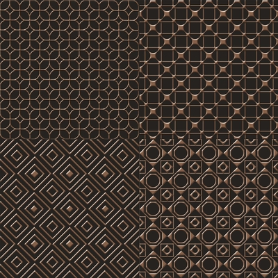 UNICA TARGET - UnicaTarget Selection Brown on Black Yer Duvar Karosu 60 x 60 cm